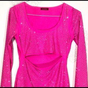 Hot Pink Rave Dress